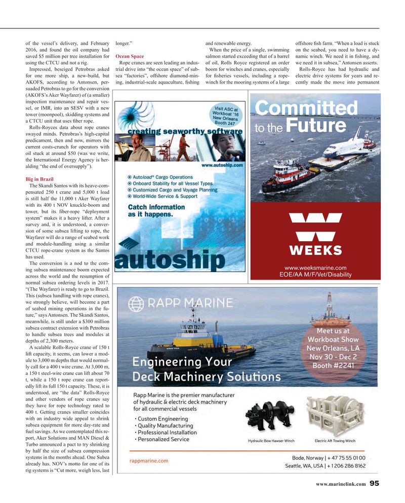 Maritime Reporter Magazine, page 95,  Nov 2016