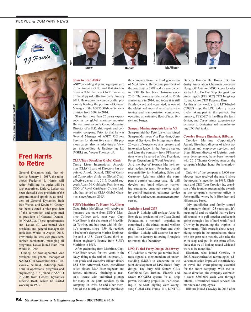 Maritime Reporter Magazine, page 54,  Dec 2016