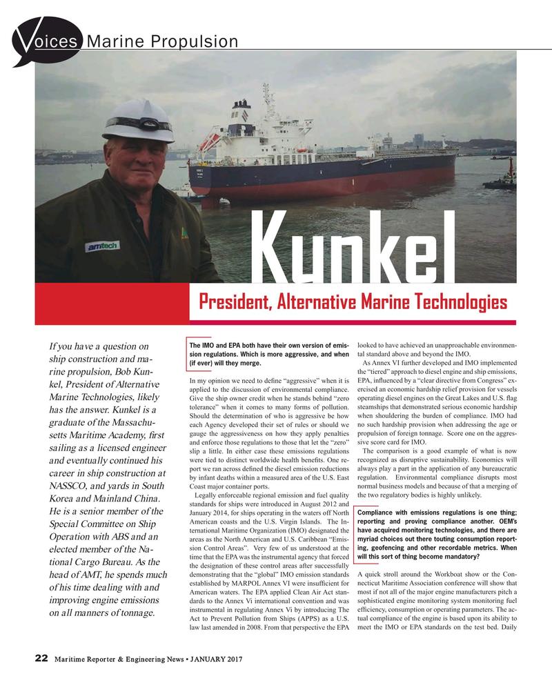 Maritime Reporter Magazine, page 22,  Jan 2017
