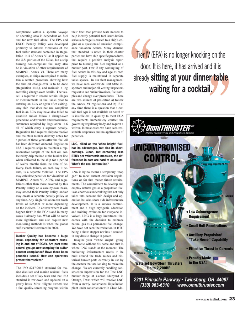 Maritime Reporter Magazine, page 23,  Jan 2017