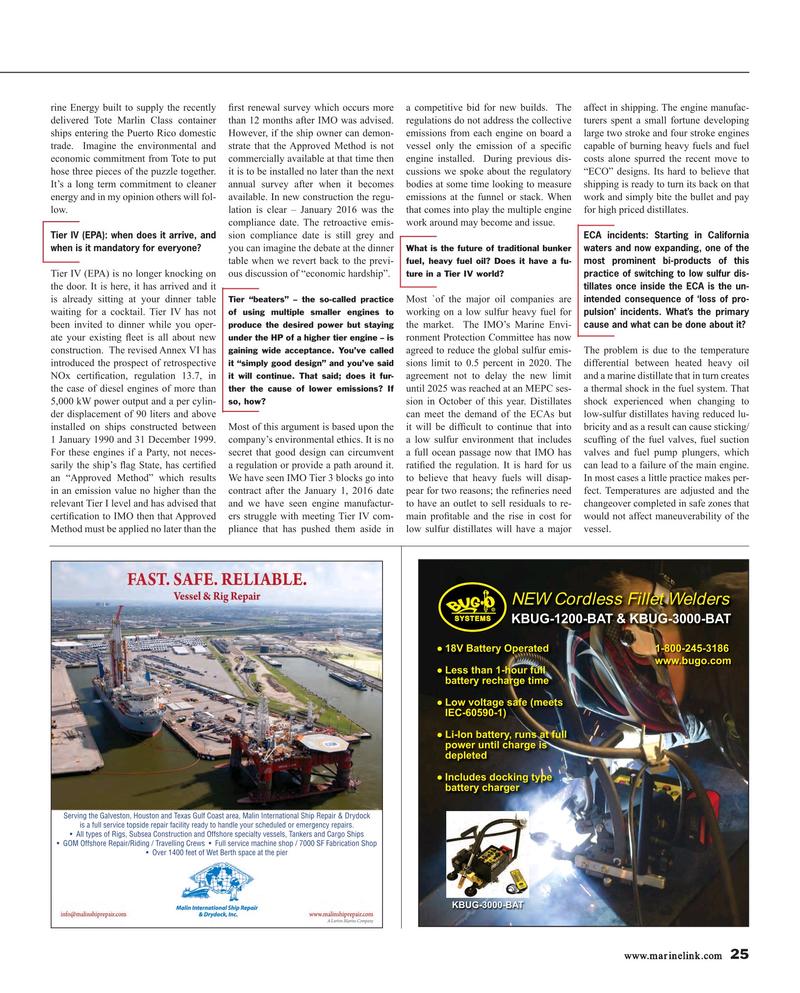 Maritime Reporter Magazine, page 25,  Jan 2017