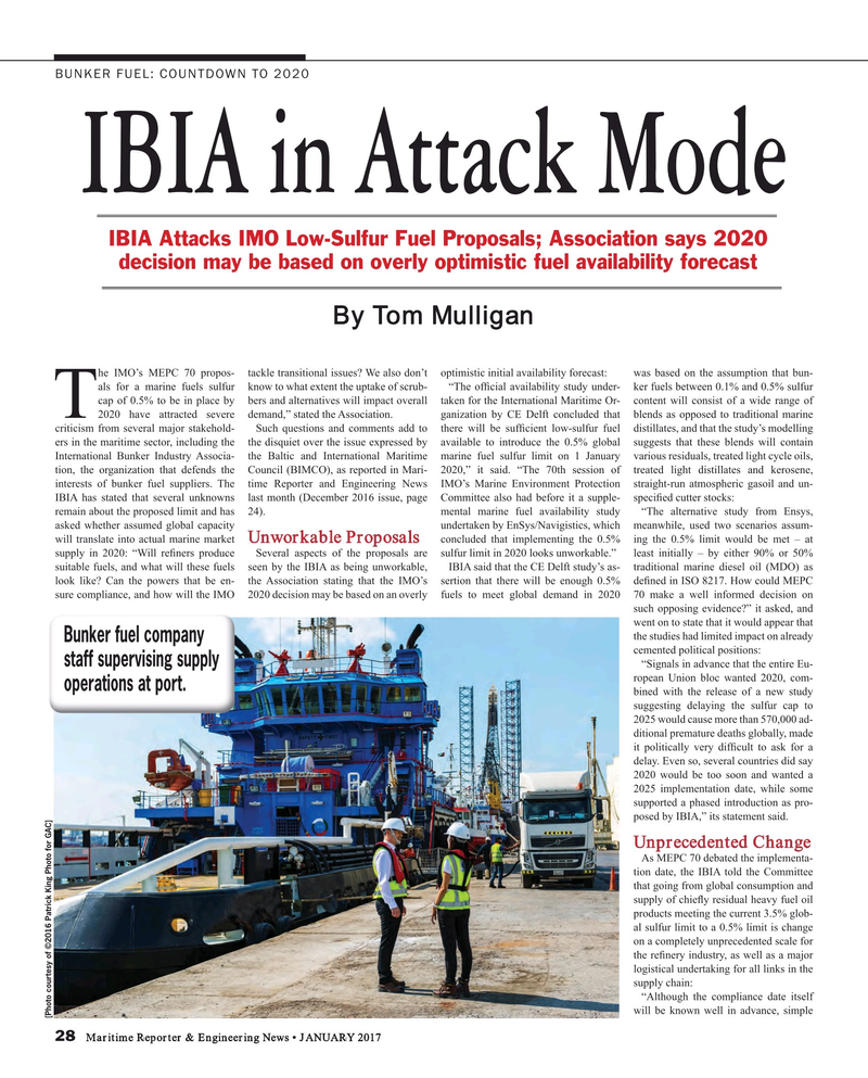 Maritime Reporter Magazine, page 28,  Jan 2017