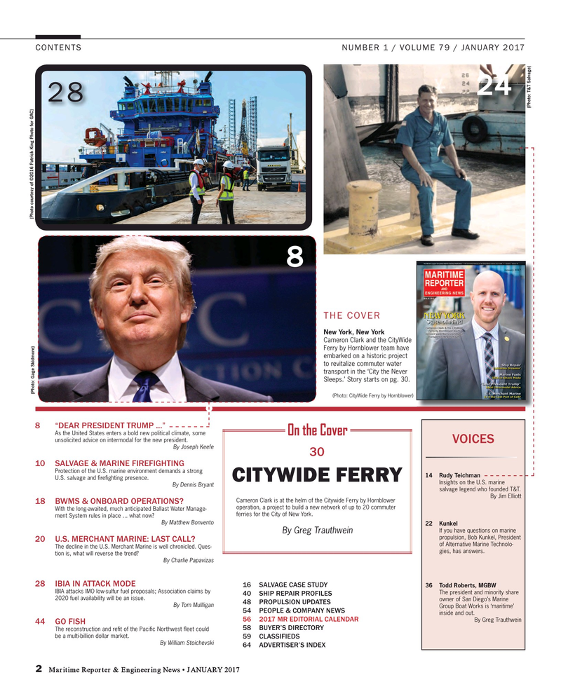 Maritime Reporter Magazine, page 2,  Jan 2017