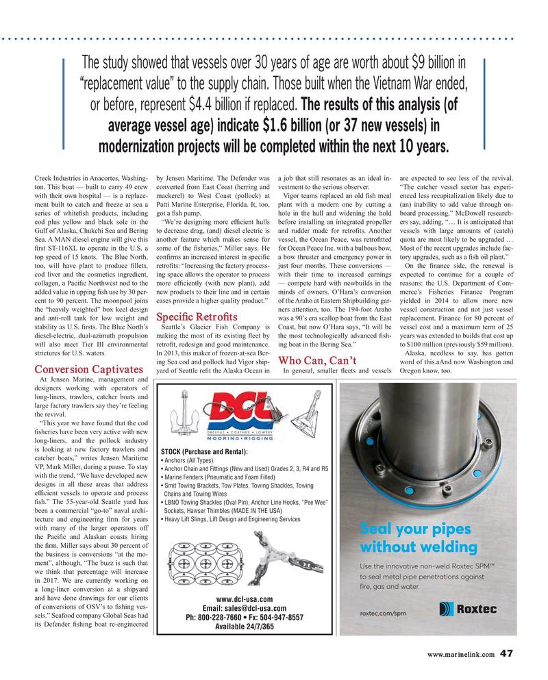 Maritime Reporter Magazine, page 47,  Jan 2017