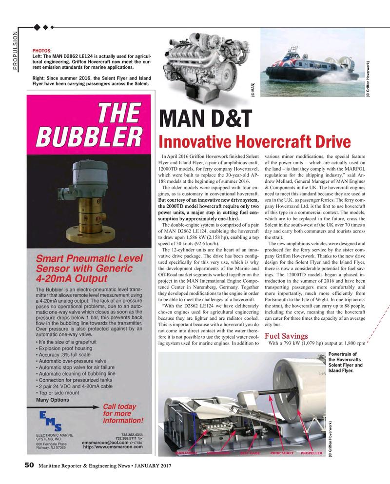 Maritime Reporter Magazine, page 50,  Jan 2017