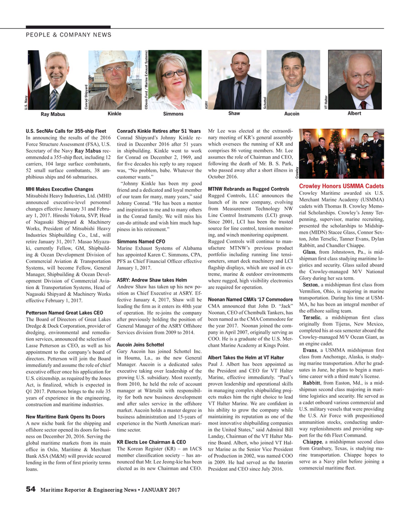 Maritime Reporter Magazine, page 54,  Jan 2017