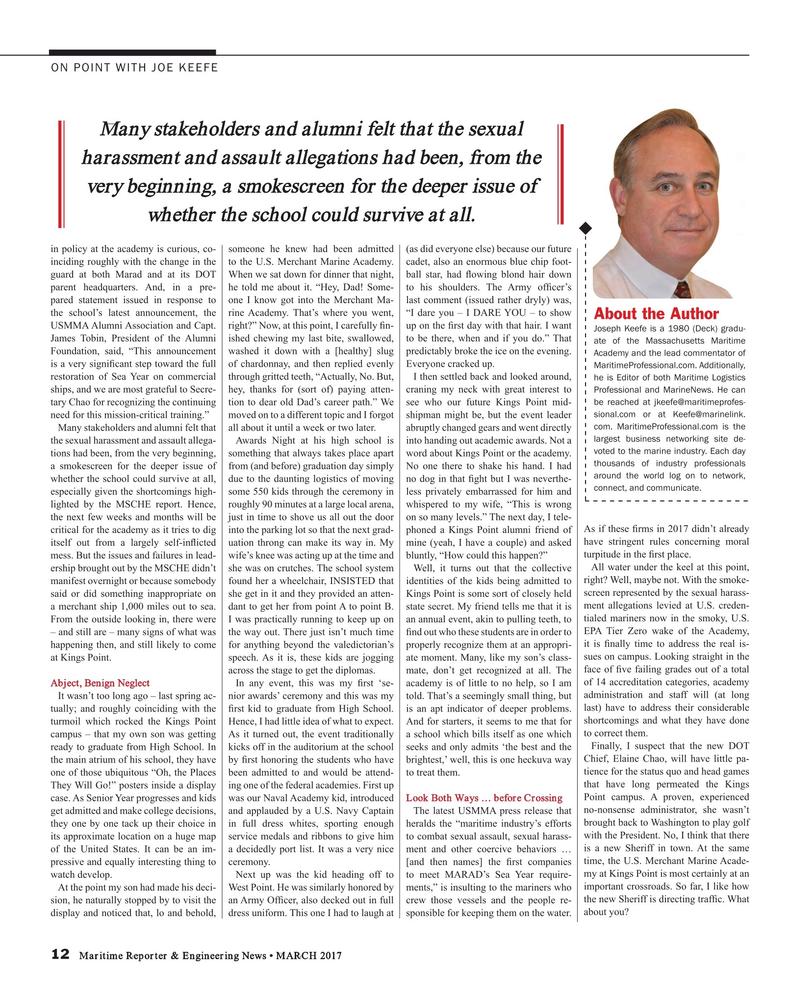 Maritime Reporter Magazine, page 12,  Mar 2017
