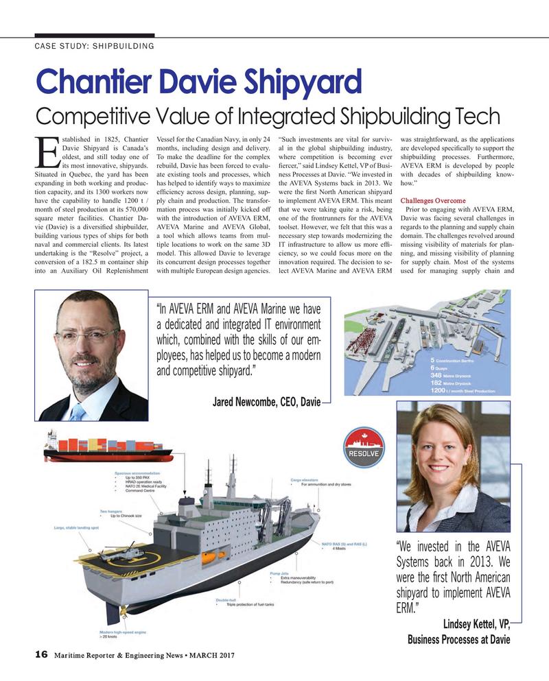 Maritime Reporter Magazine, page 16,  Mar 2017