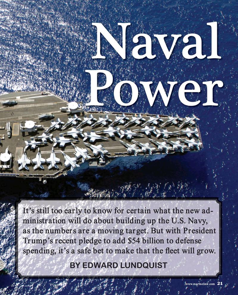 Maritime Reporter Magazine, page 21,  Mar 2017