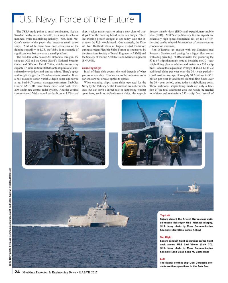 Maritime Reporter Magazine, page 24,  Mar 2017