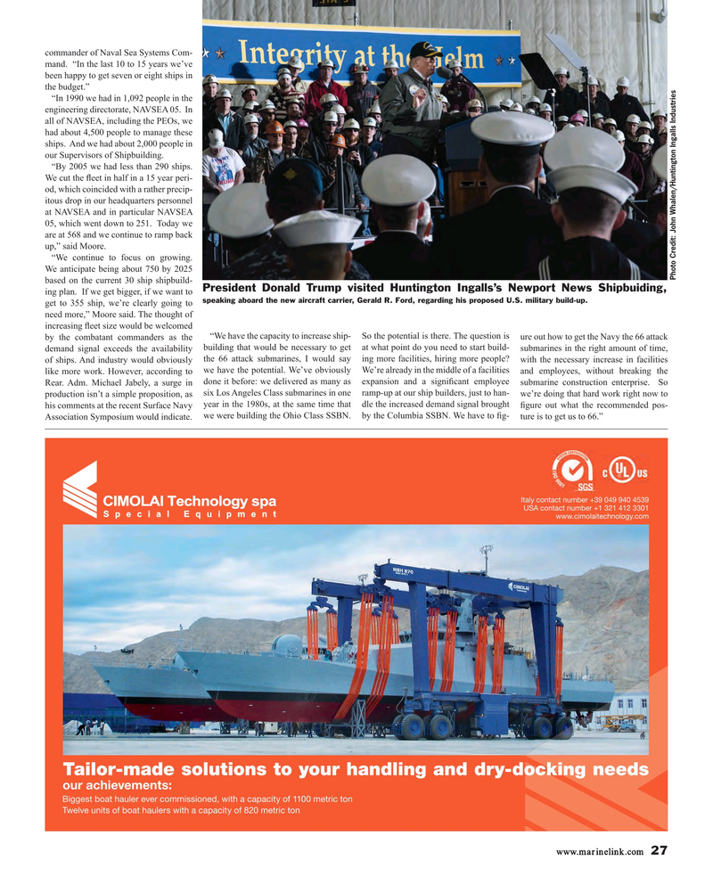Maritime Reporter Magazine, page 27,  Mar 2017