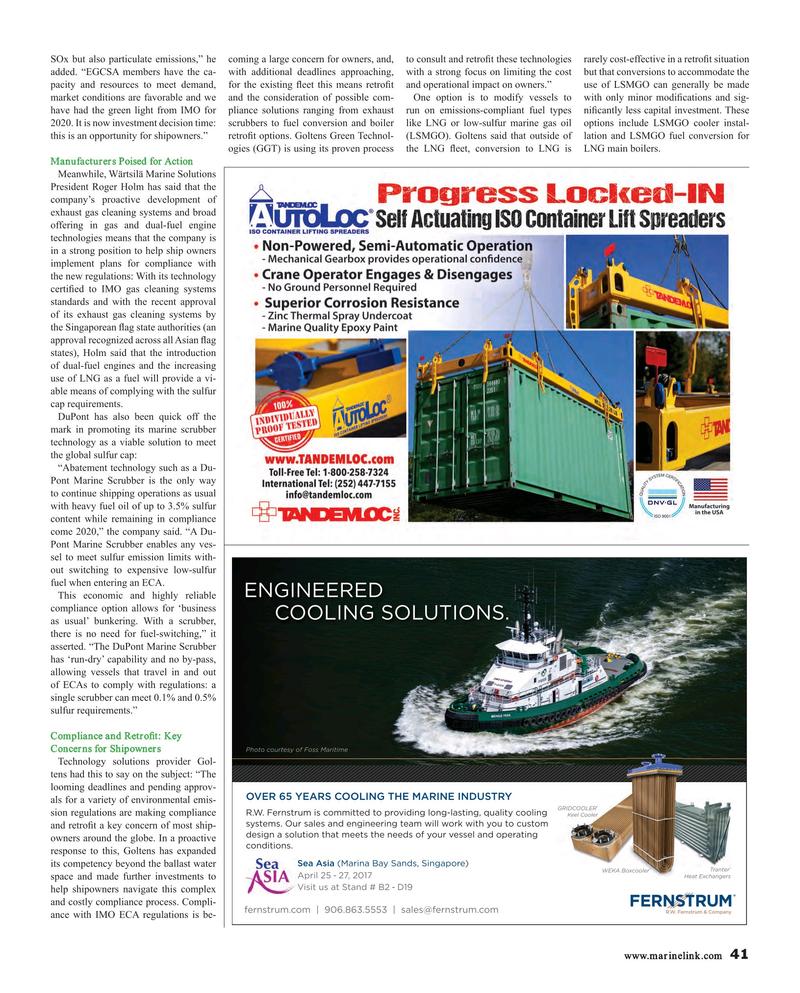 Maritime Reporter Magazine, page 41,  Mar 2017