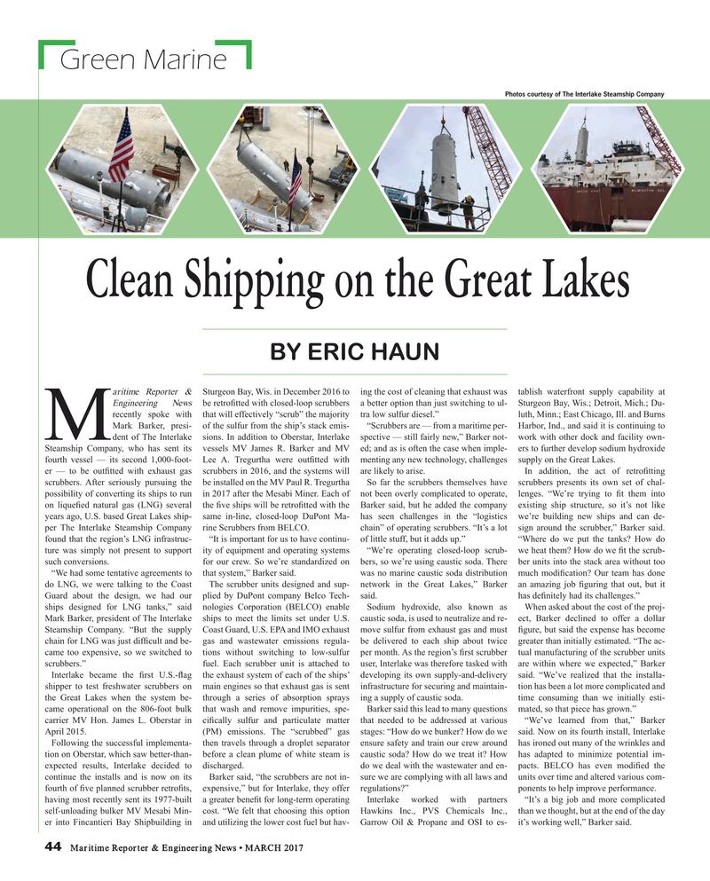 Maritime Reporter Magazine, page 44,  Mar 2017