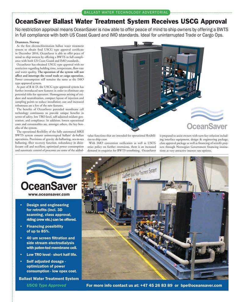 Maritime Reporter Magazine, page 64,  Mar 2017