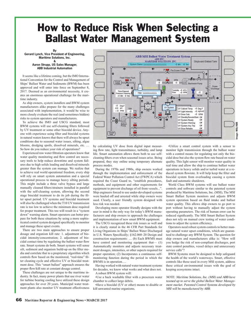Maritime Reporter Magazine, page 66,  Mar 2017