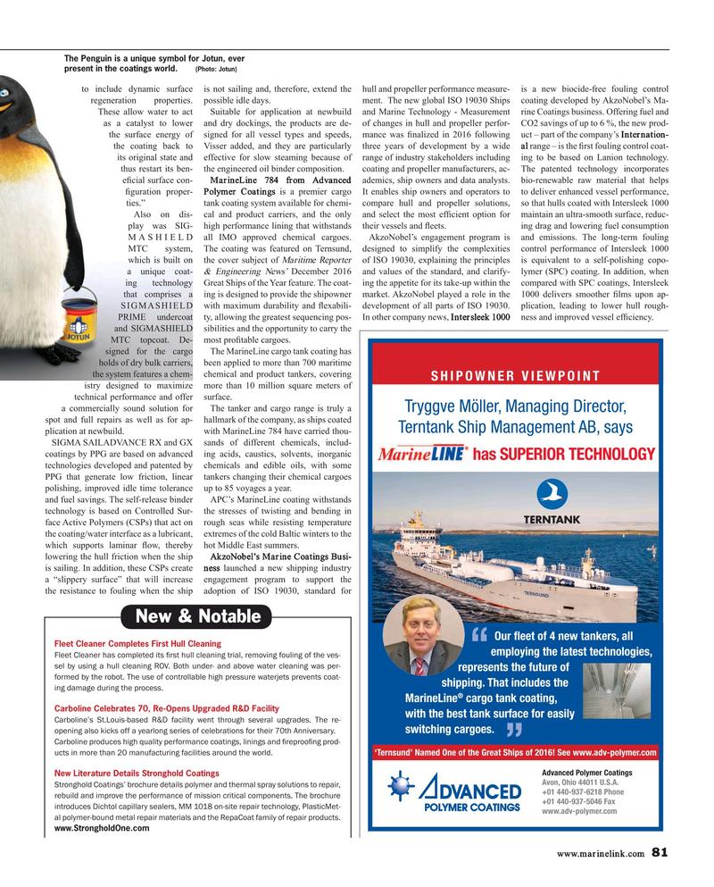 Maritime Reporter Magazine, page 81,  Mar 2017