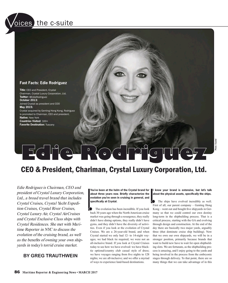 Maritime Reporter Magazine, page 86,  Mar 2017
