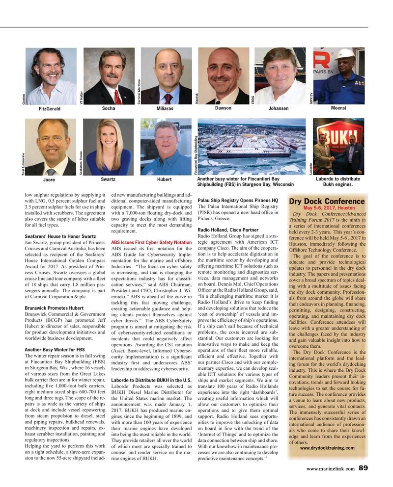 Maritime Reporter Magazine, page 89,  Mar 2017