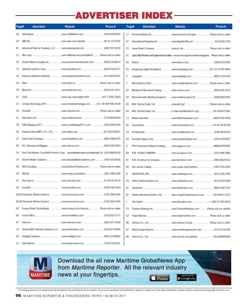 Maritime Reporter Magazine, page 96,  Mar 2017