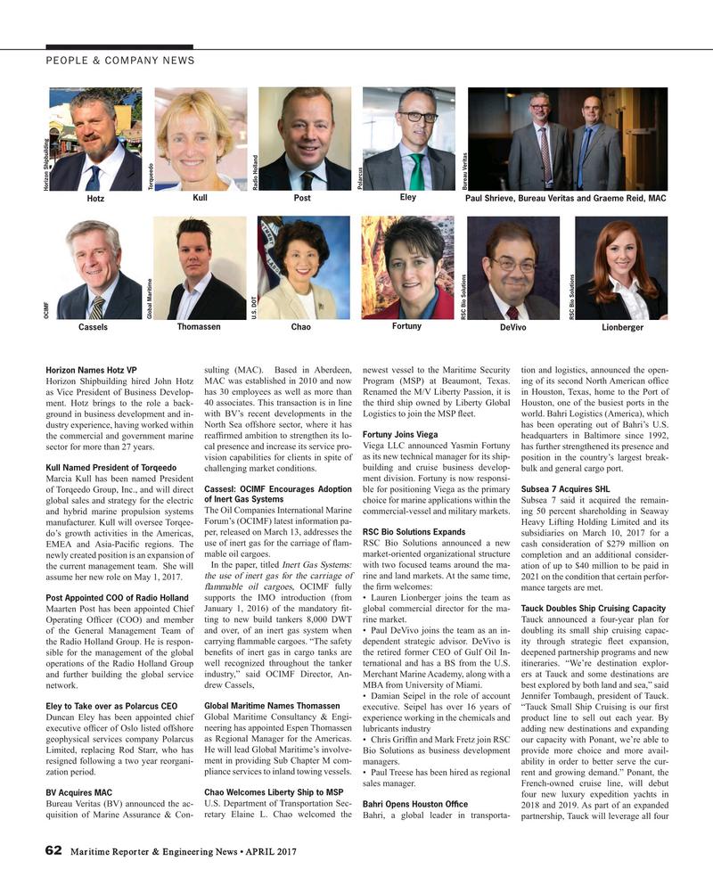 Maritime Reporter Magazine, page 62,  Apr 2017