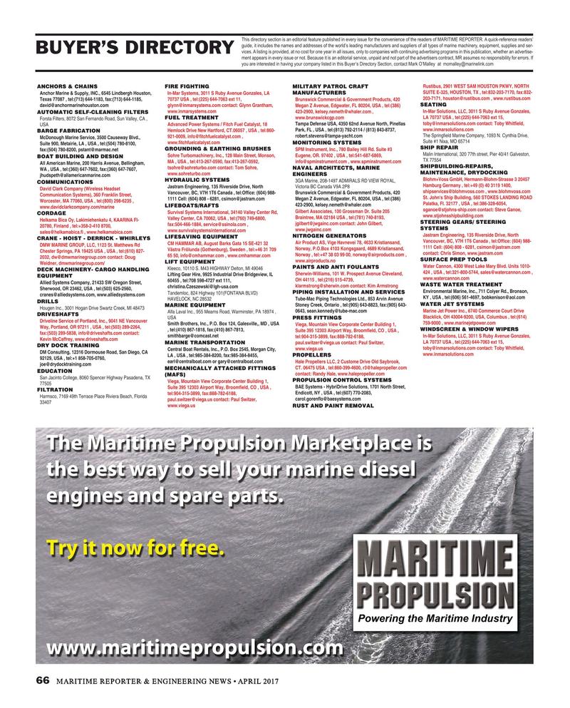 Maritime Reporter Magazine, page 66,  Apr 2017