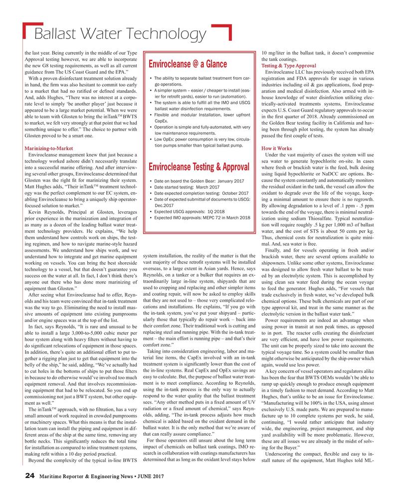 Maritime Reporter Magazine, page 24,  Jun 2017