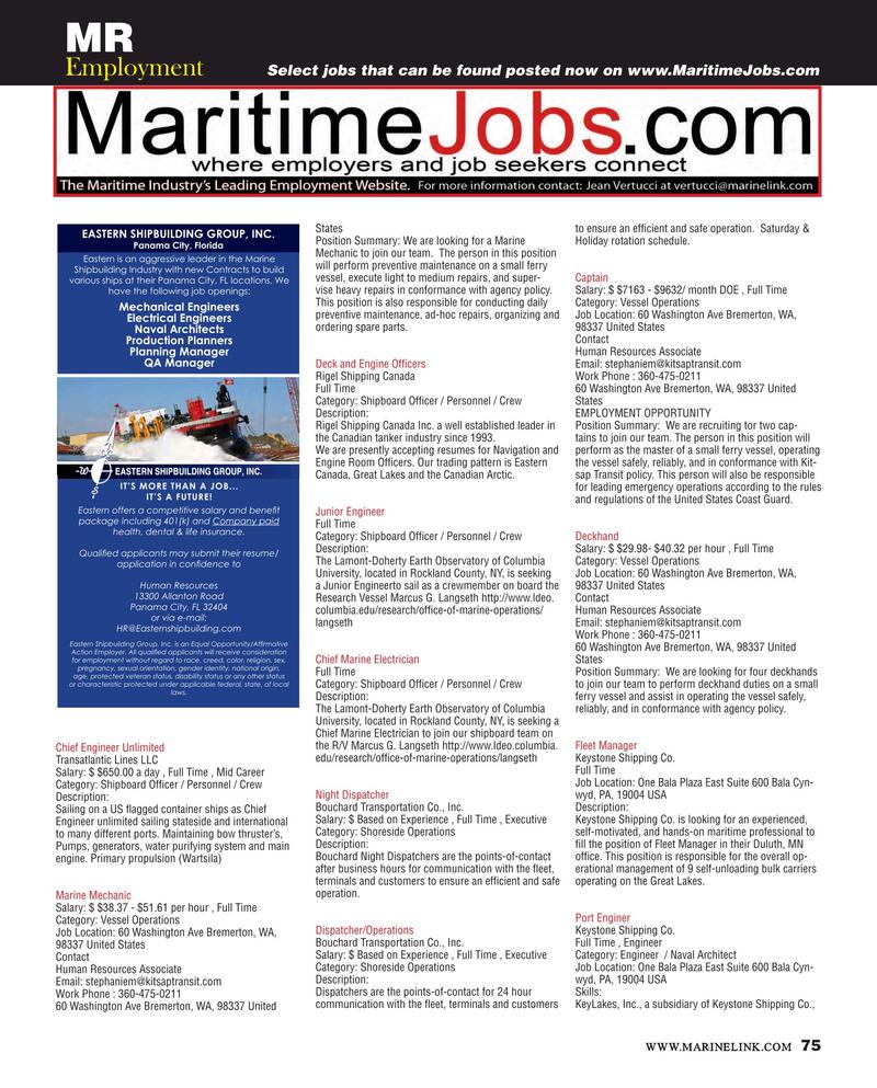 Maritime Reporter Magazine June 2017, 75 page
