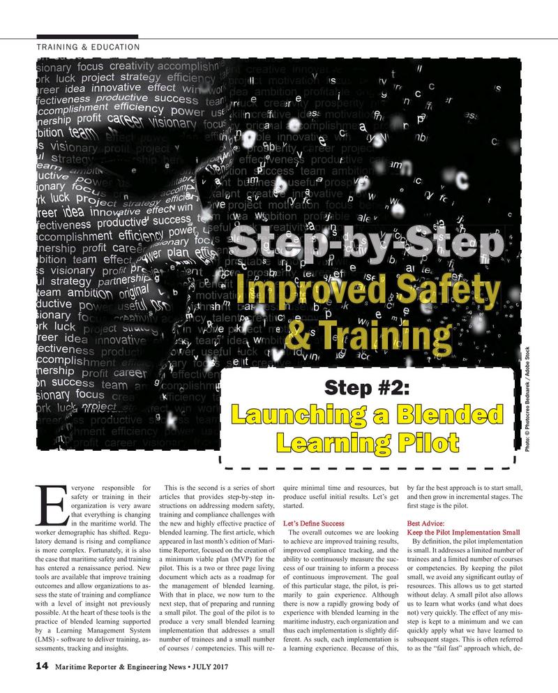 Maritime Reporter Magazine, page 14,  Jul 2017