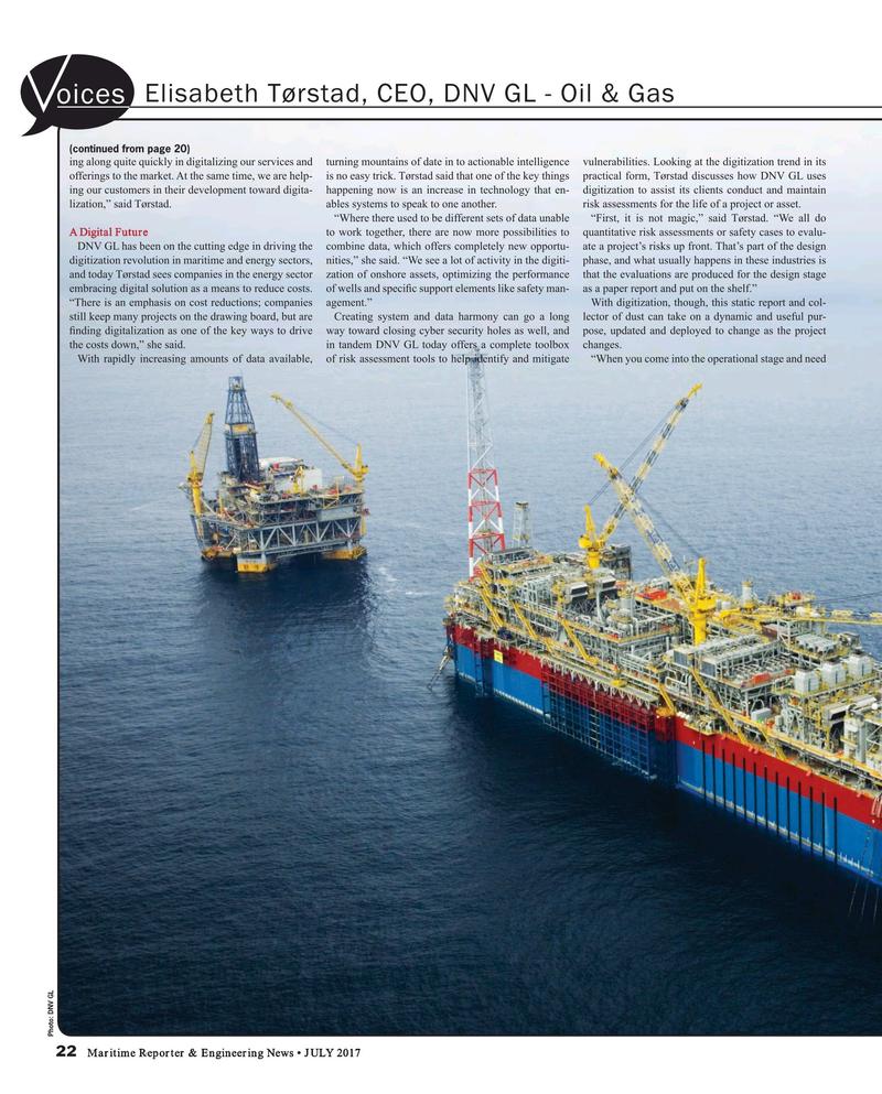 Maritime Reporter Magazine, page 22,  Jul 2017