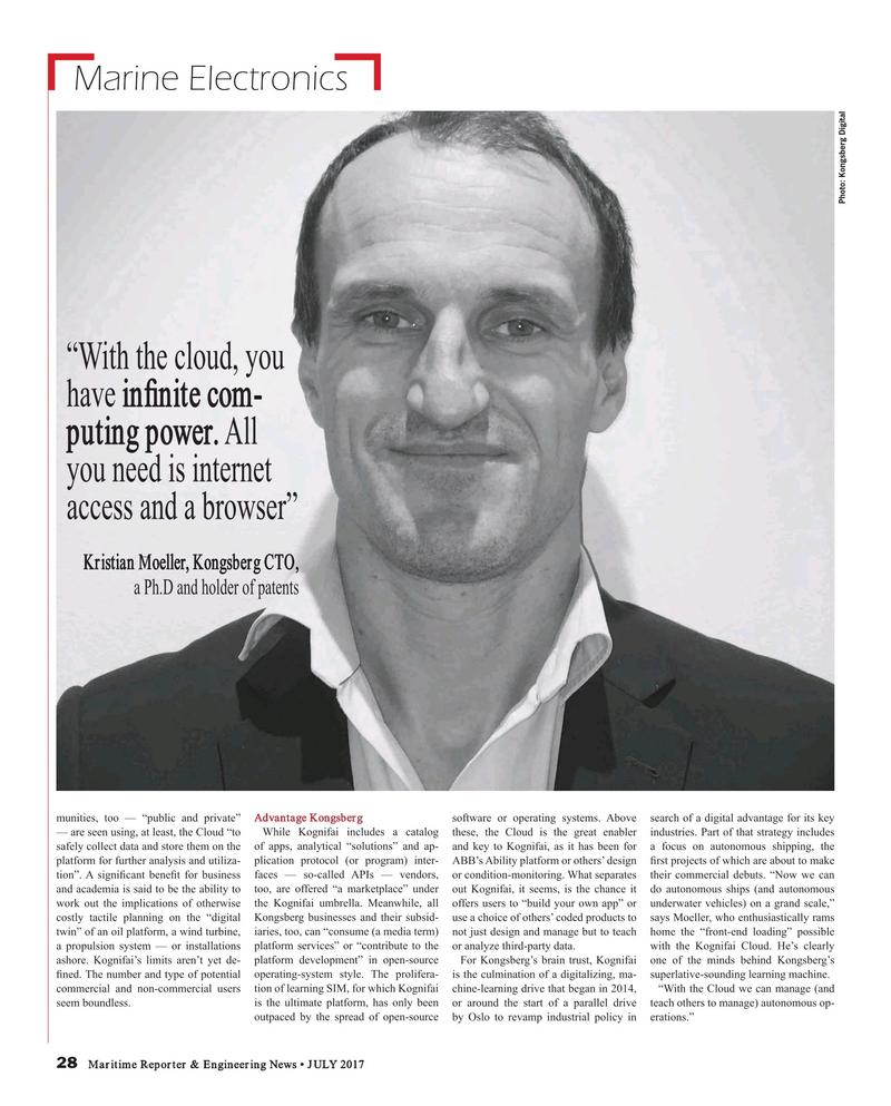 Maritime Reporter Magazine, page 28,  Jul 2017