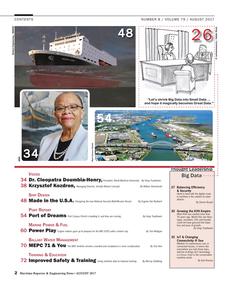 Maritime Reporter Magazine, page 2,  Aug 2017