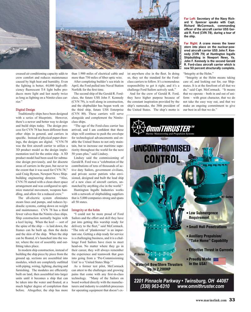 Maritime Reporter Magazine, page 33,  Sep 2017