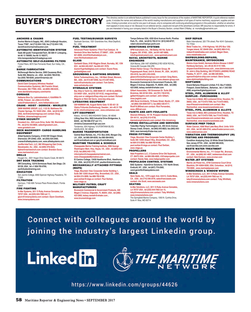 Maritime Reporter Magazine, page 58,  Sep 2017