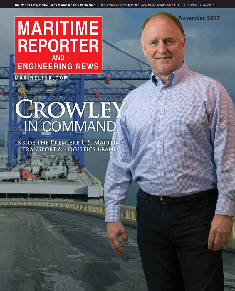 Maritime Reporter Magazine Cover Nov 2017 - The Workboat Edition