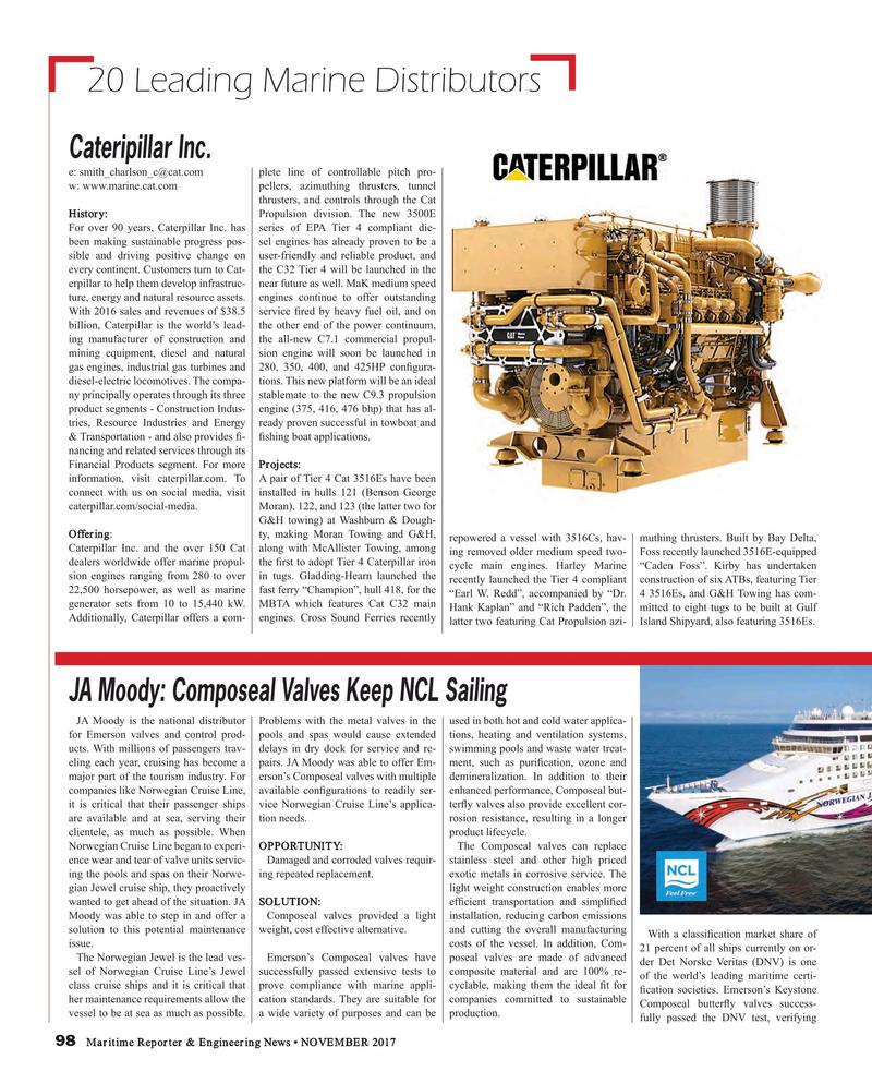 Maritime Reporter Magazine, page 98,  Nov 2017