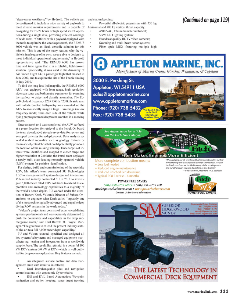 Maritime Reporter Magazine, page 111,  Nov 2017