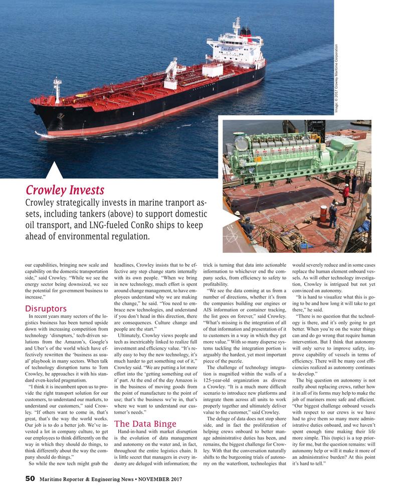 Maritime Reporter Magazine, page 50,  Nov 2017