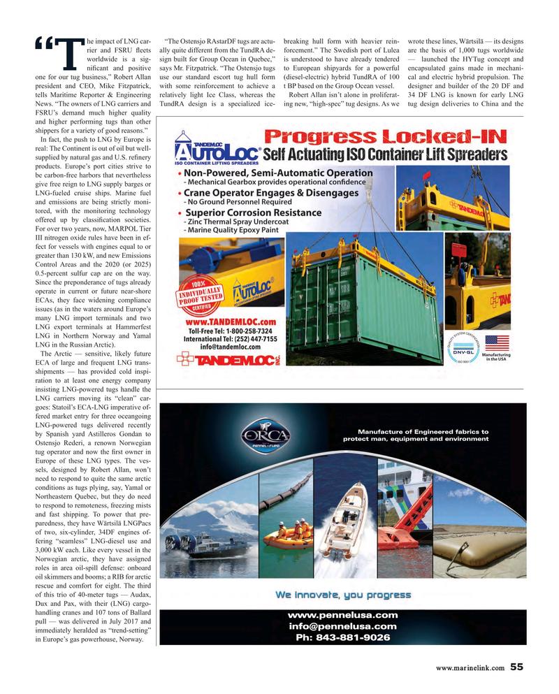 Maritime Reporter Magazine, page 55,  Nov 2017
