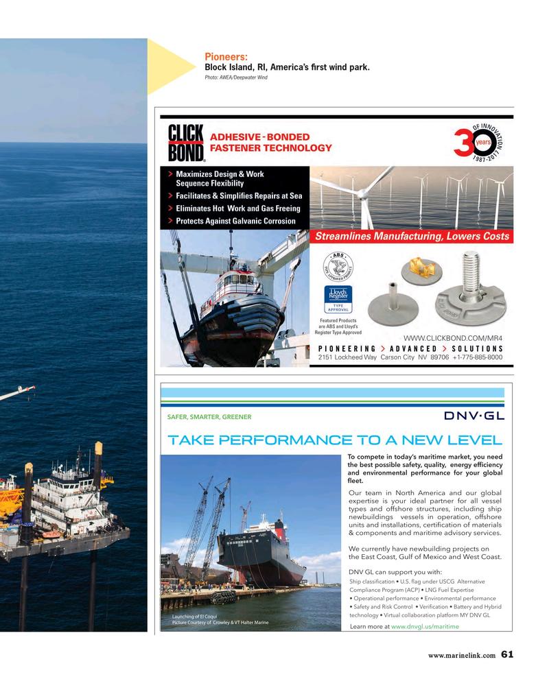 Maritime Reporter Magazine, page 61,  Nov 2017