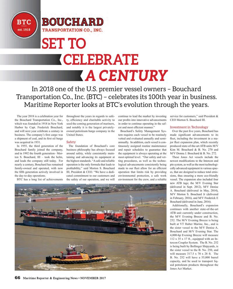 Maritime Reporter Magazine, page 66,  Nov 2017