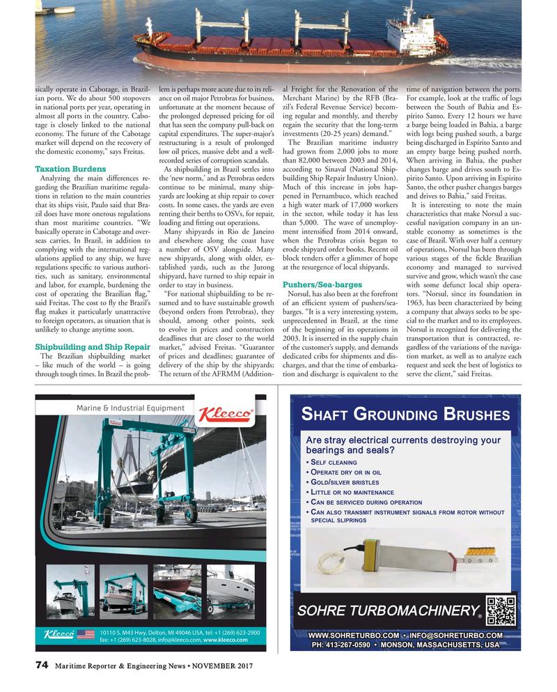Maritime Reporter Magazine, page 74,  Nov 2017