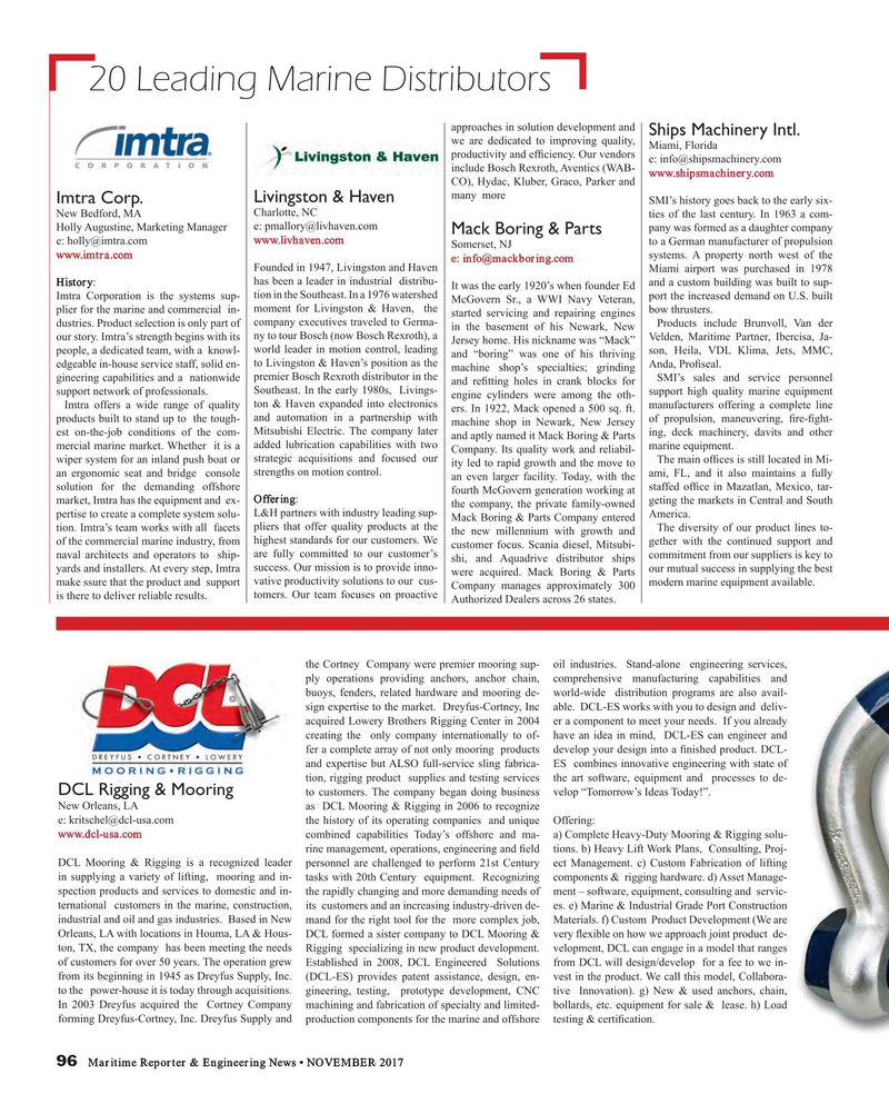 Maritime Reporter Magazine, page 96,  Nov 2017