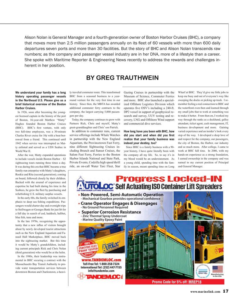 Maritime Reporter Magazine, page 17,  Jan 2018