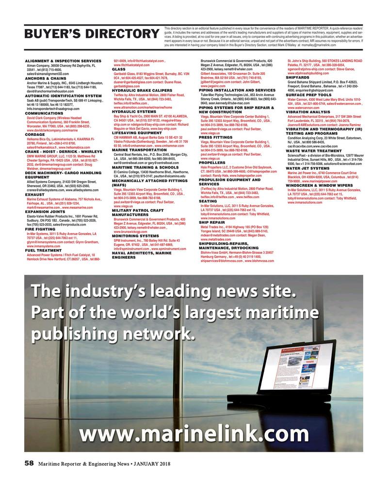Maritime Reporter Magazine, page 58,  Jan 2018