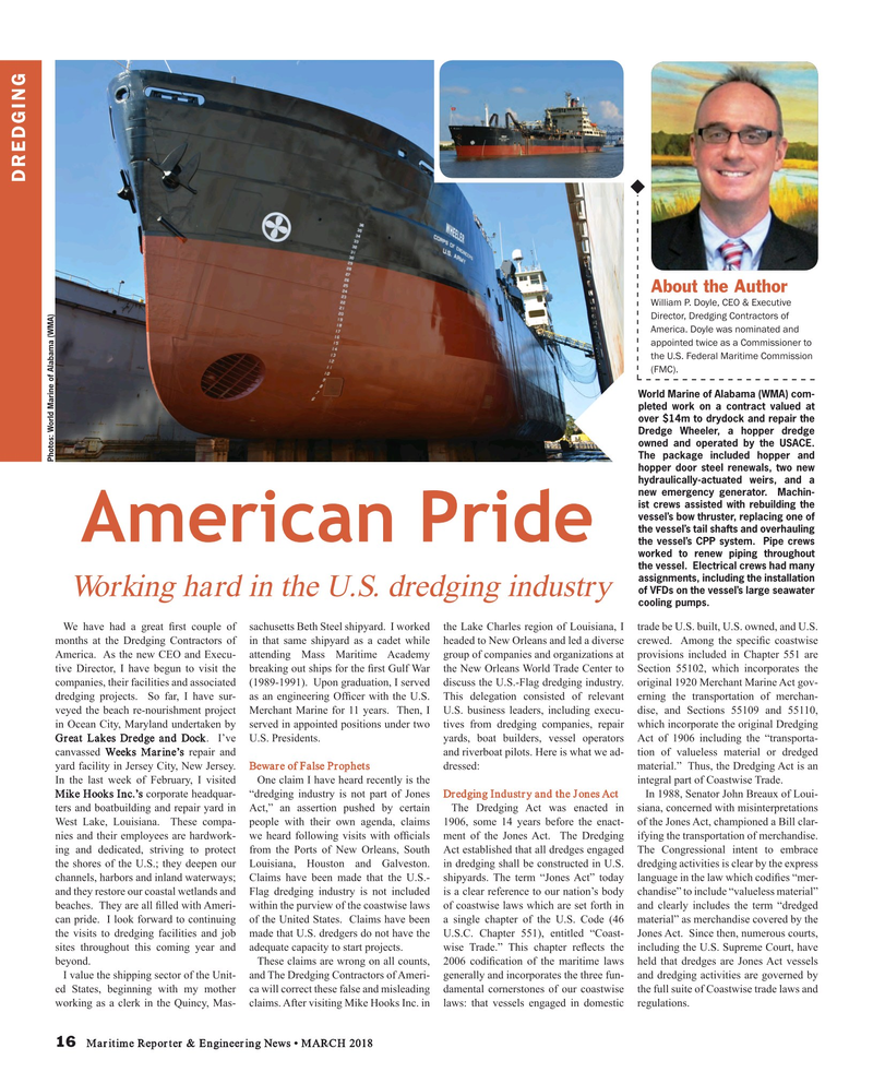 Maritime Reporter Magazine, page 16,  Mar 2018