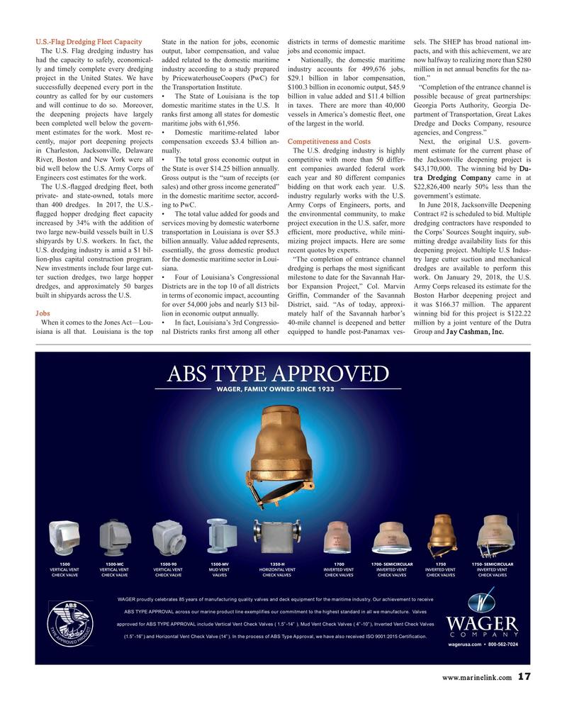 Maritime Reporter Magazine, page 17,  Mar 2018