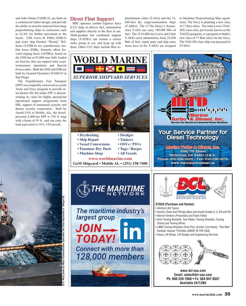 Maritime Reporter Magazine, page 35,  Mar 2018