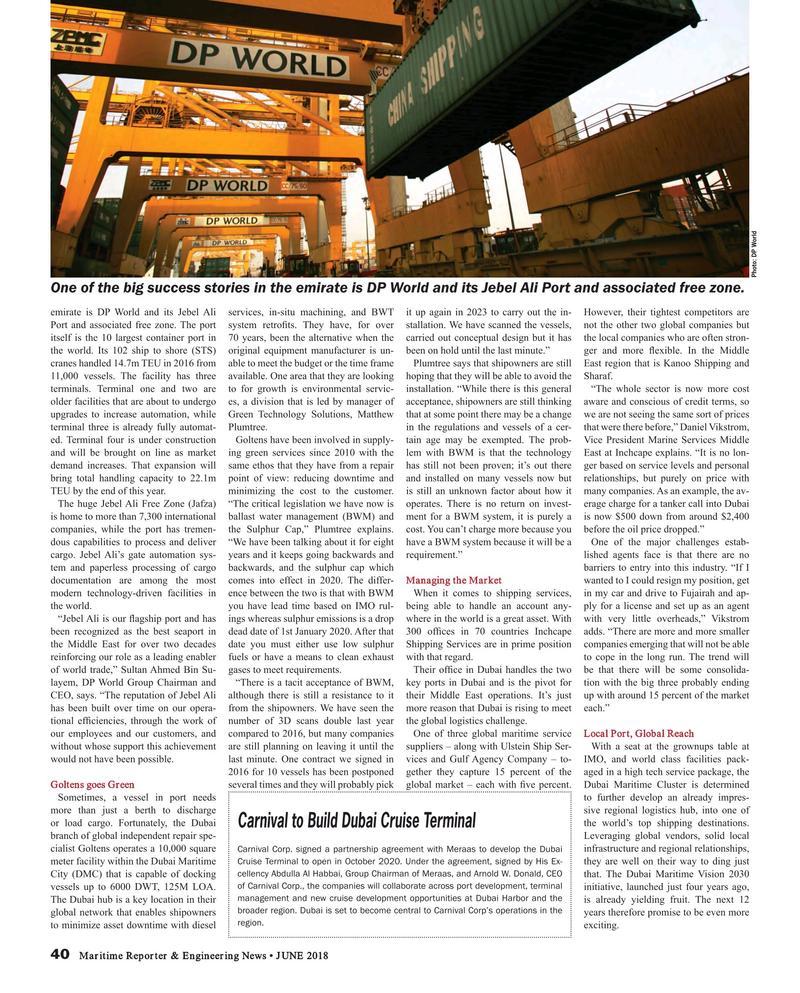 Maritime Reporter Magazine, page 40,  Jun 2018