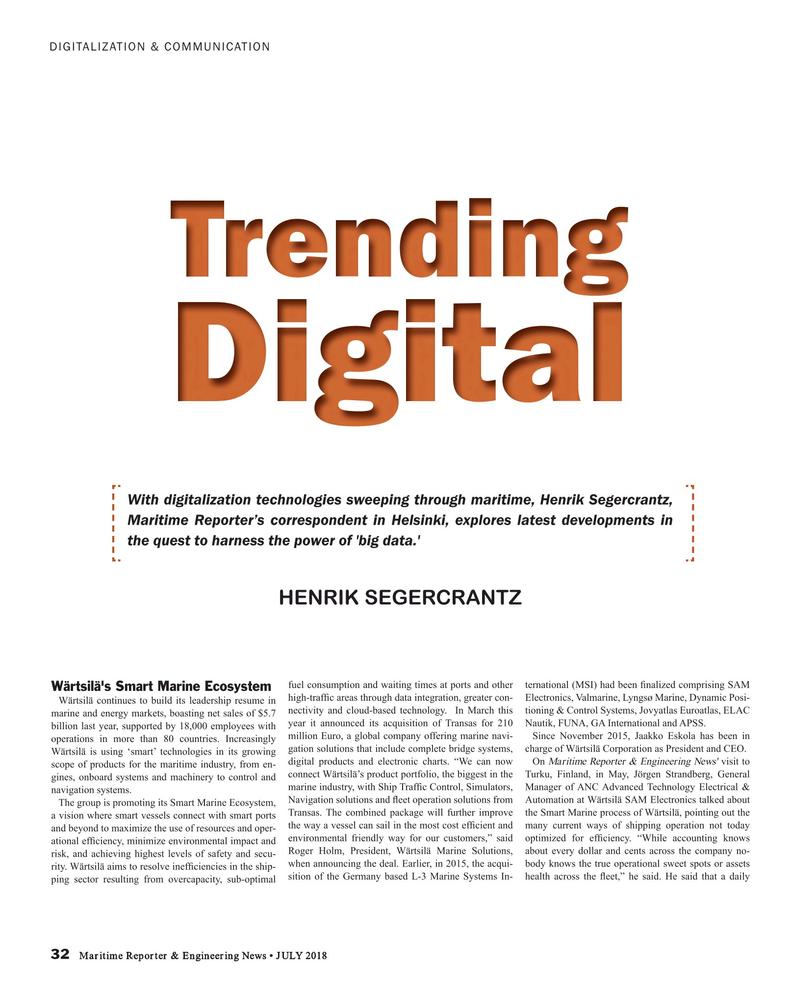 Maritime Reporter Magazine, page 32,  Jul 2018