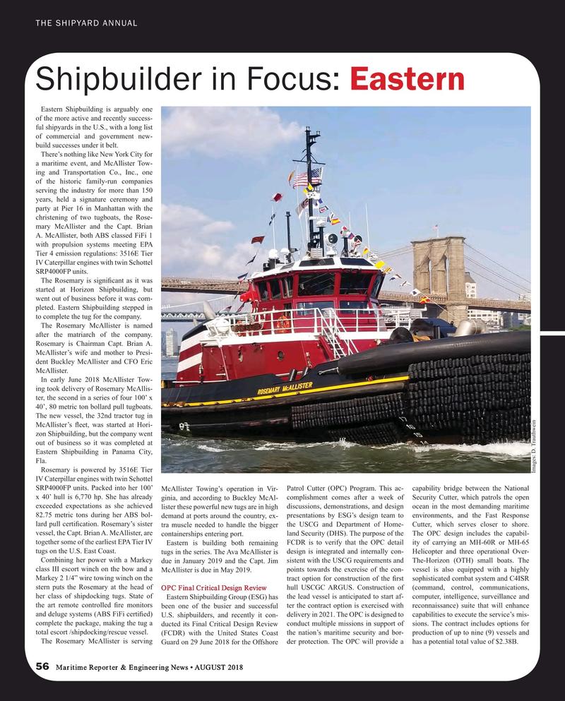 Maritime Reporter Magazine, page 56,  Aug 2018